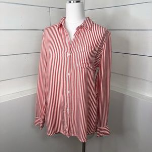 BeachLunchLounge Striped Rayon Button Down